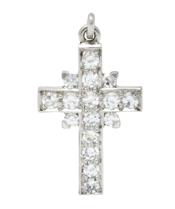 Tiffany & Co. Diamond Platinum Cross Charm Circa 1950 - Wilson's Estate Jewelry