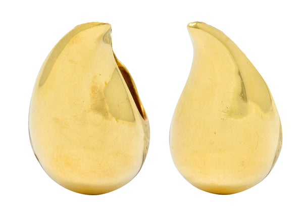 Elsa Peretti Tiffany & Co. 18 Karat Gold Vintage Teardrop Earrings