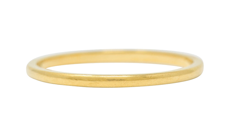 Tiffany & Co. 18 Karat Yellow Gold Unisex Stacking Band Ring