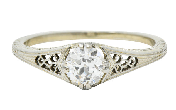 Jones & Woodland Co. 0.44 CTW Diamond 18 Karat White Gold Engagement Ring