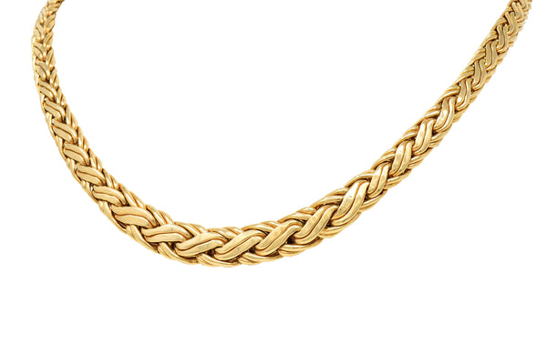 Tiffany & Co. Vintage 14 Karat Gold Wheat Chain Necklace