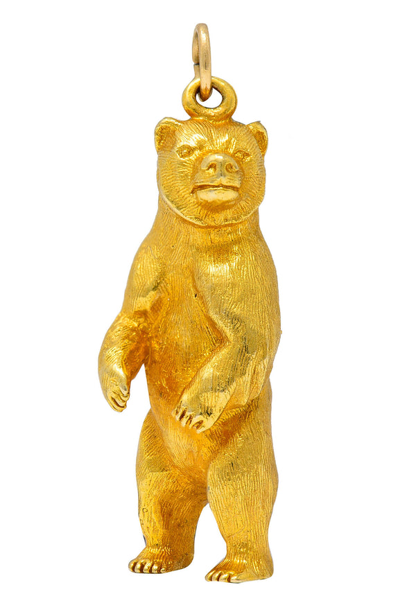 1970's Vintage 14 Karat Gold Grizzly Bear Charm