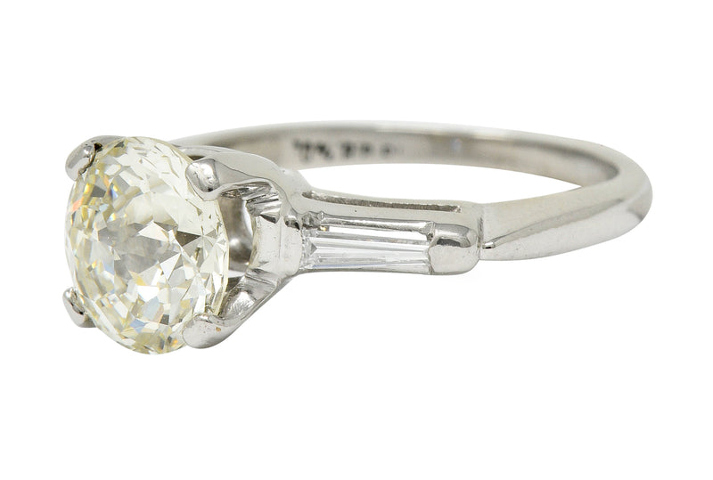 Extraordinary 1.82 CTW Jubilee Cut Diamond Platinum Engagement Ring GIA
