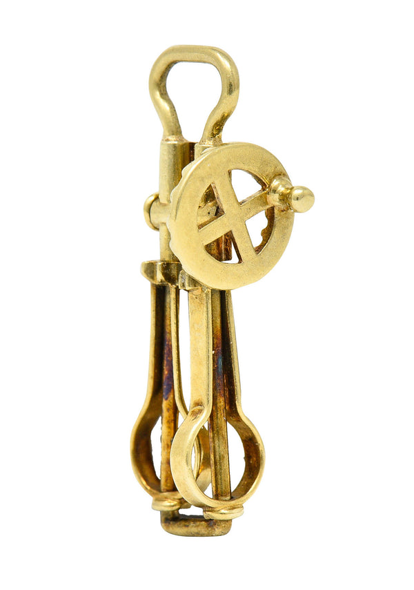 Sloan & Co. Retro 14 Karat Gold Articulated Hand Mixer Charm