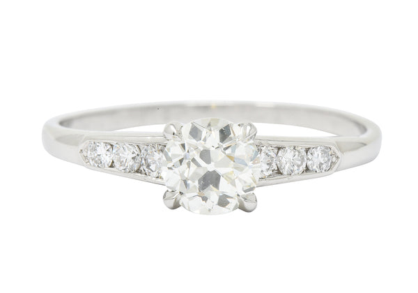 Jabel Retro 1.18 CTW Old European Diamond Platinum Engagement Ring GIA - Wilson's Estate Jewelry