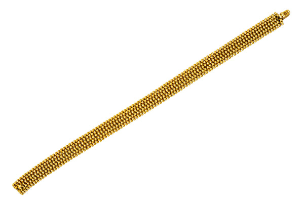 Tiffany & Co. Vintage 18 Karat Gold Beaded Link Bracelet - Wilson's Estate Jewelry