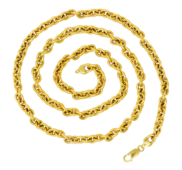 Vintage 14 Karat Yellow Gold 30 Inch Cable Chain Unisex Necklace - Wilson's Estate Jewelry