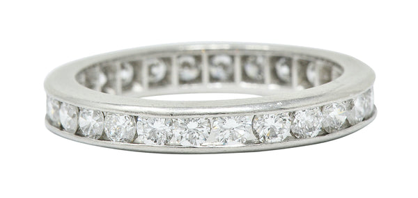 Classic 0.78 CTW Diamond Platinum Eternity Band Stack Ring