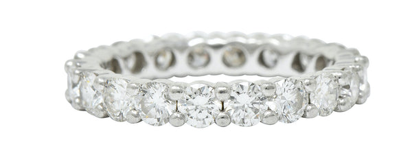 Modern 2.00 CTW Diamond Platinum Eternity Band Ring