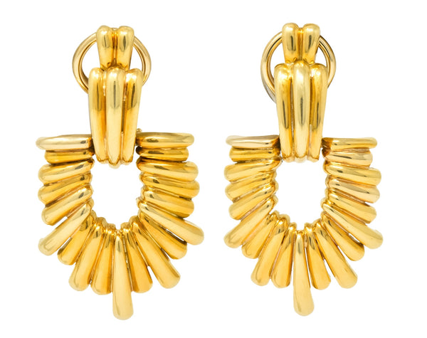 Aldo Cipullo Cartier Vintage 18 Karat Gold Door Knocker Ear-Clip Earring 1970s Earrings