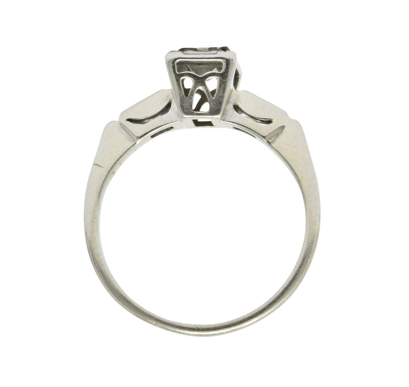 Art Deco 0.35 CTW Diamond 14 Karat White Gold Engagement Ring Ring Art Deco out-of-stock