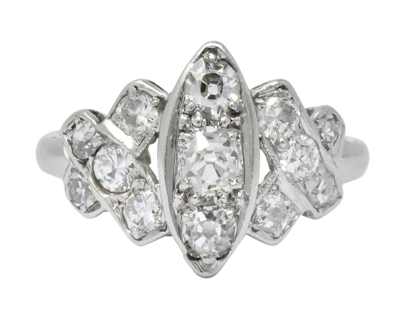 Art Deco 0.42 CTW Diamond Platinum Dinner Ring - Wilson's Estate Jewelry