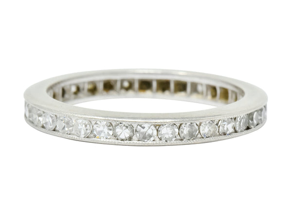 Art Deco 1.00 CTW Diamond Platinum Channel Eternity Band Ring - Wilson's Estate Jewelry