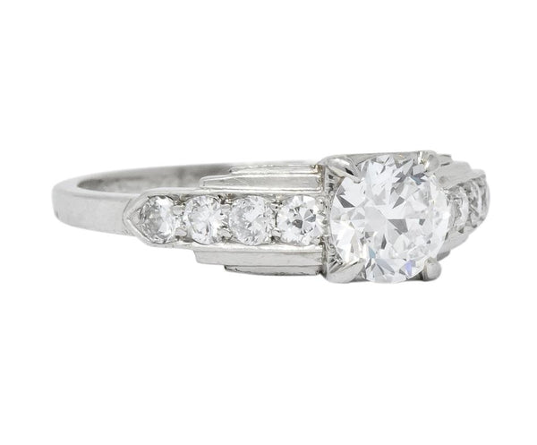 Birks Retro 0.82 CTW Diamond Platinum Engagement Ring Ring