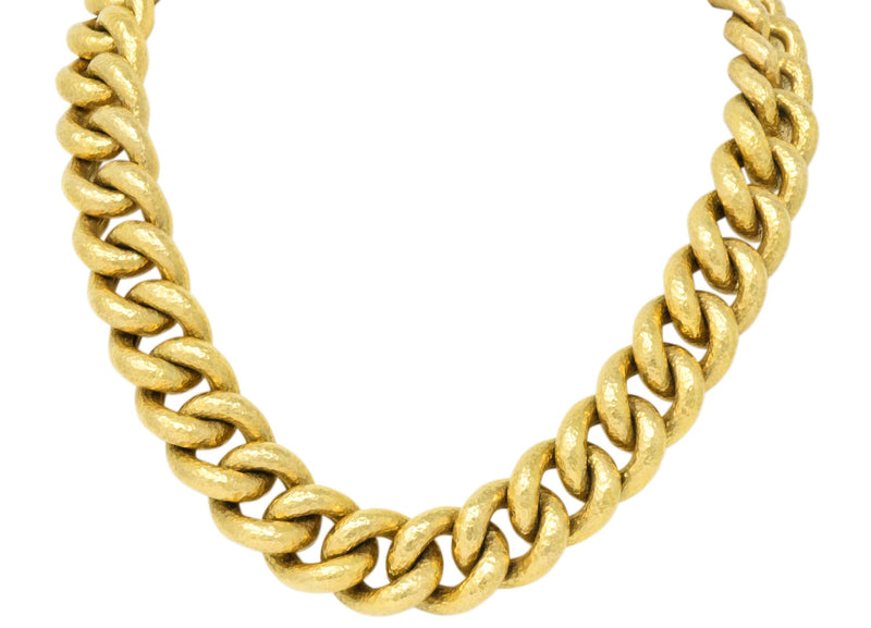 Bold Contemporary 18 Karat Gold Link Necklace Necklace
