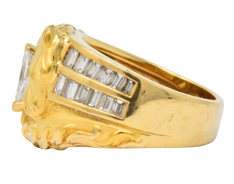 Carrera y Carrera 1.70 CTW Marquise Diamond 18 Karat Gold Ecuestre Horse Ring - Wilson's Estate Jewelry
