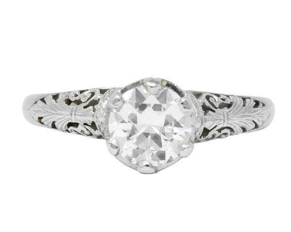 Carter Gough & Co. Edwardian 0.89 CTW Diamond Platinum Engagement Ring Ring
