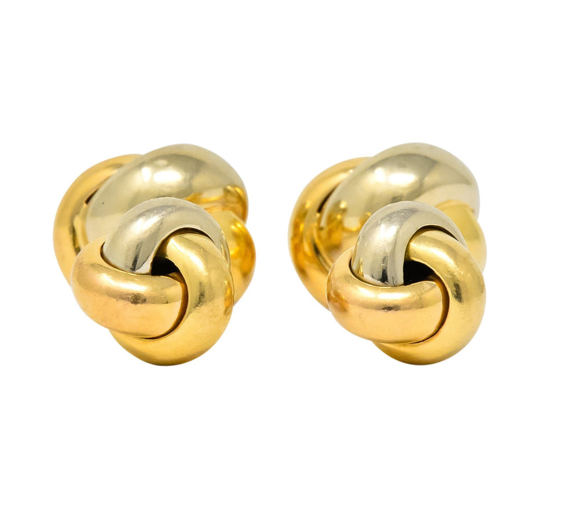 Cartier 18 Karat Tri-Color Gold Trinity Cufflinks - Wilson's Estate Jewelry