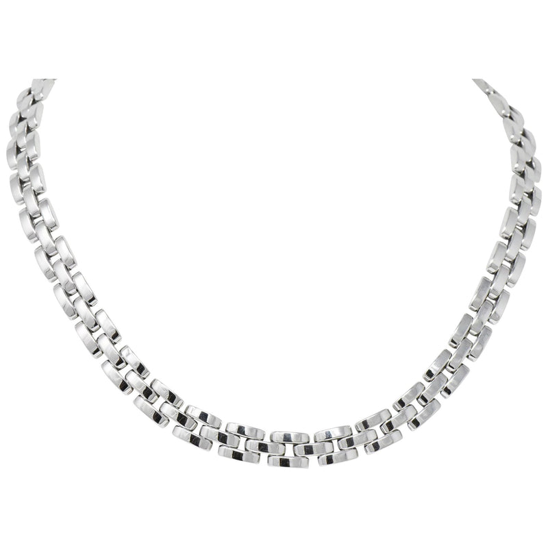 Cartier 18 Karat White Gold Panthère Necklace Necklace