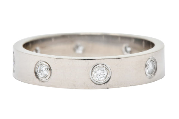 Cartier Love Diamond 18 Karat White Gold Unisex Stacking Band Ring - Wilson's Estate Jewelry