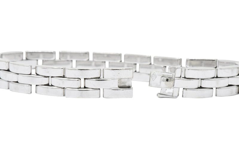 Cartier Maillon Panthere 18 Karat White Gold Unisex Link Bracelet French - Wilson's Estate Jewelry