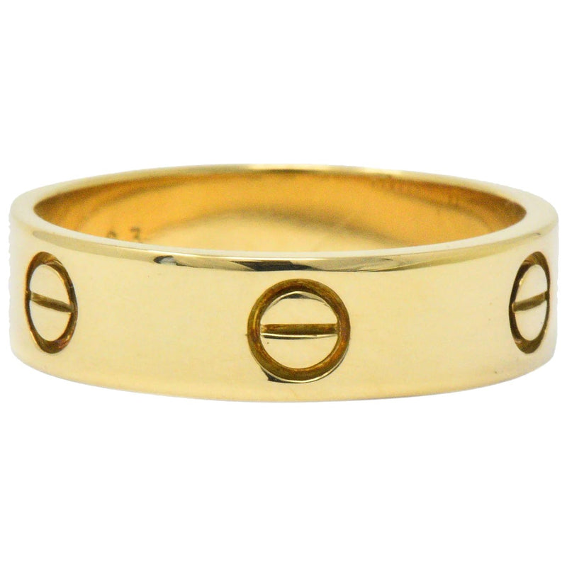 Cartier Mens 18 Karat Gold Love Collection Band Ring Ring