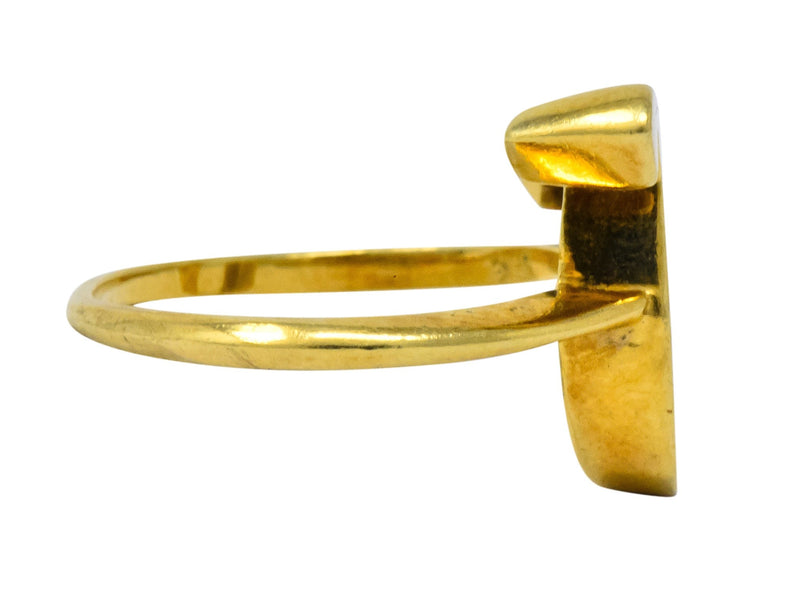 Cartier Vintage 18 Karat Gold Leo Zodiac Ring - Wilson's Estate Jewelry