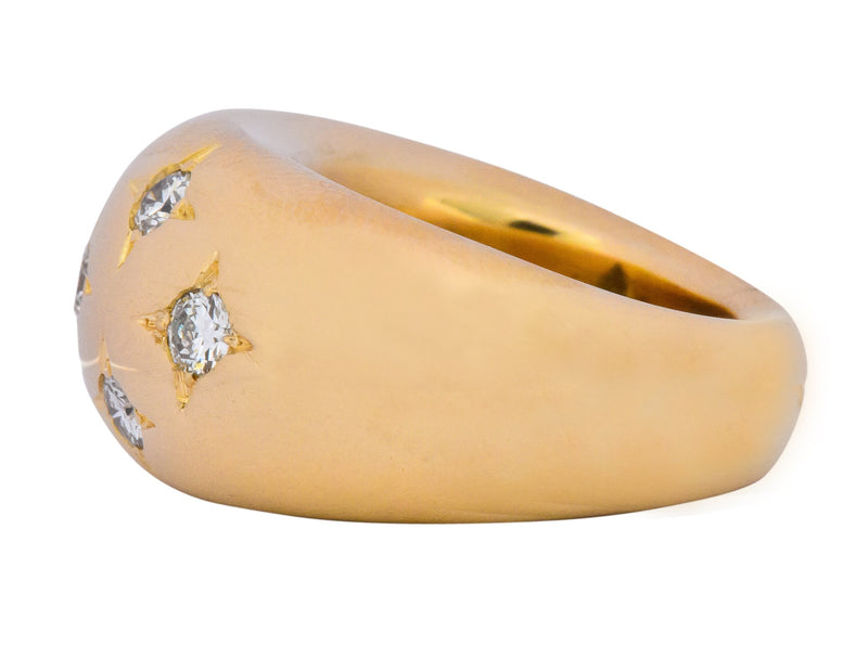 Chaumet Vintage 0.45 CTW Diamond 18 Karat Gold French Bombay Ring - Wilson's Estate Jewelry