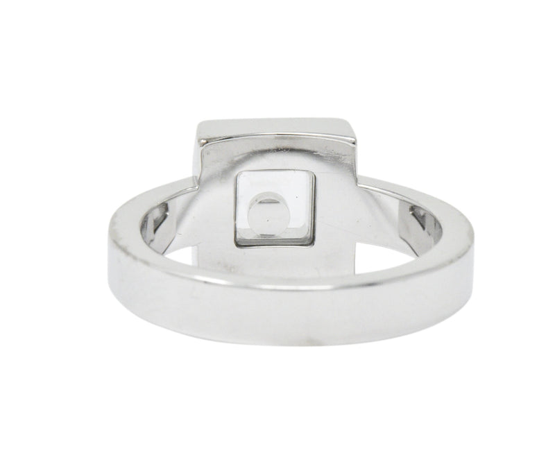 Chopard 0.38 CTW Diamond 18 Karat White Gold Happy Diamonds Ring - Wilson's Estate Jewelry
