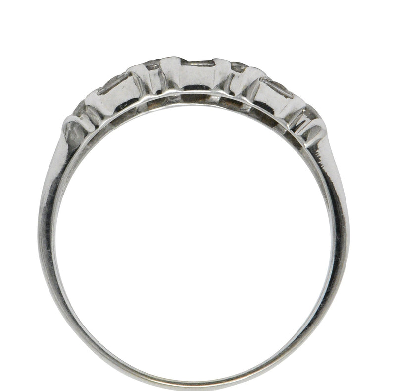Contemporary 0.75 CTW Diamond 14 Karat White Gold Alternative Ring Ring