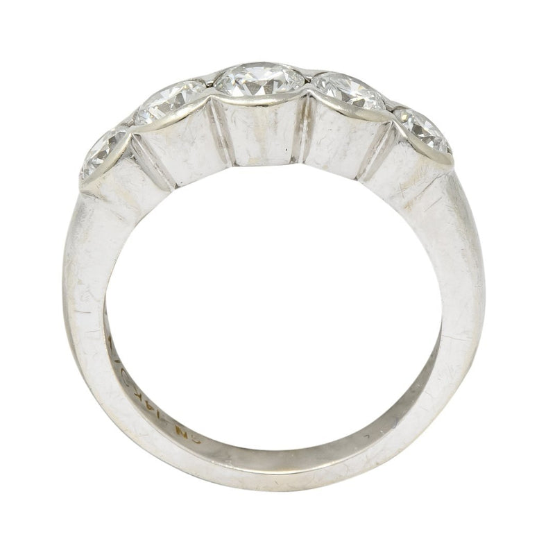 Contemporary 1.15 CTW Diamond 14 Karat White Gold Stackable Ring Ring