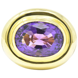 Contemporary 20.00 CTW Amethyst 18 Karat Gold Cocktail Ring Ring Contemporary out-of-stock