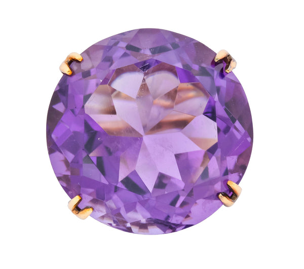 Contemporary 40.82 CTW Amethyst 14 Karat Gold Cocktail Ring - Wilson's Estate Jewelry