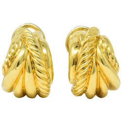 David Yurman 18 Karat Gold Shrimp Earrings