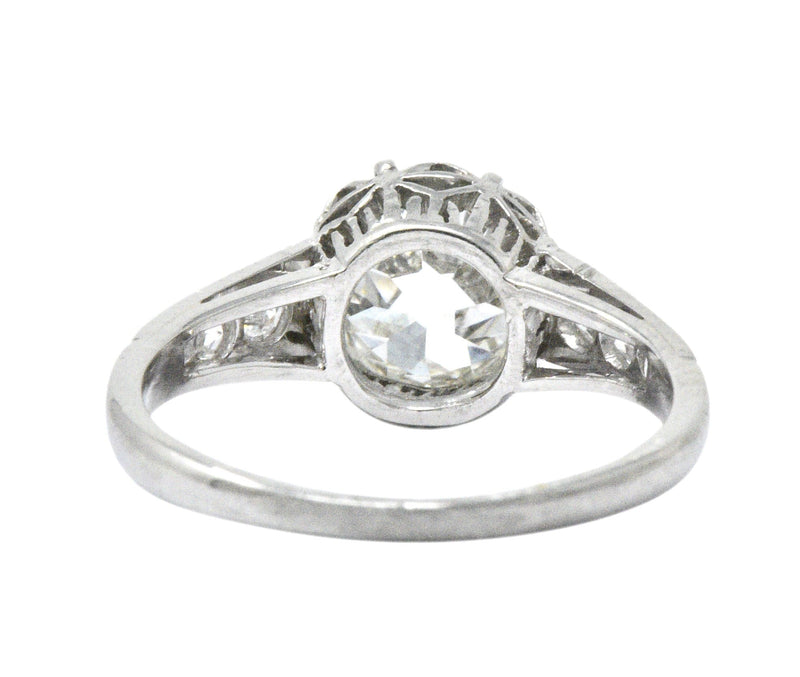 Edwardian 1.64 CTW Diamond Platinum Engagement Ring GIA - Wilson's Estate Jewelry