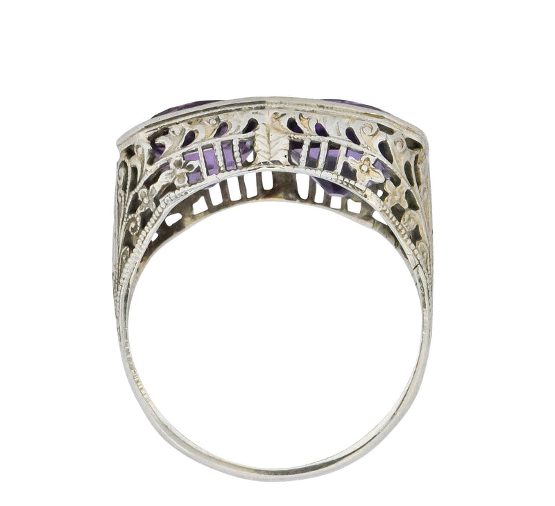 Edwardian 4.80 CTW Amethyst 14 Karat White Gold Ring Ring Edwardian out-of-stock