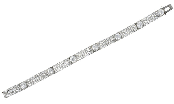 Exceptional Tiffany & Co. Edwardian 11.21 CTW Old European Cut Diamond Platinum Bracelet bracelet