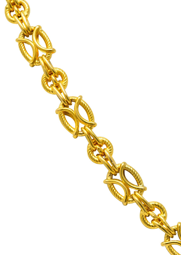 French Victorian 18 Karat Gold 53 Inch Long Chain Necklace Necklace out-of-stock Victorian