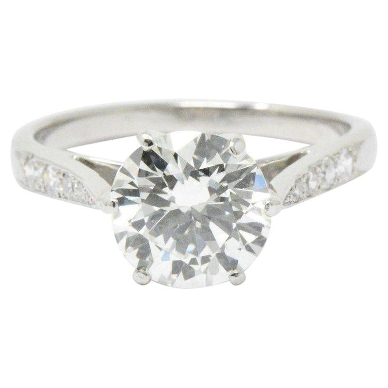 Gorgeous 1.87 CTW Diamond & Platinum Engagement Ring GIA Certified Ring