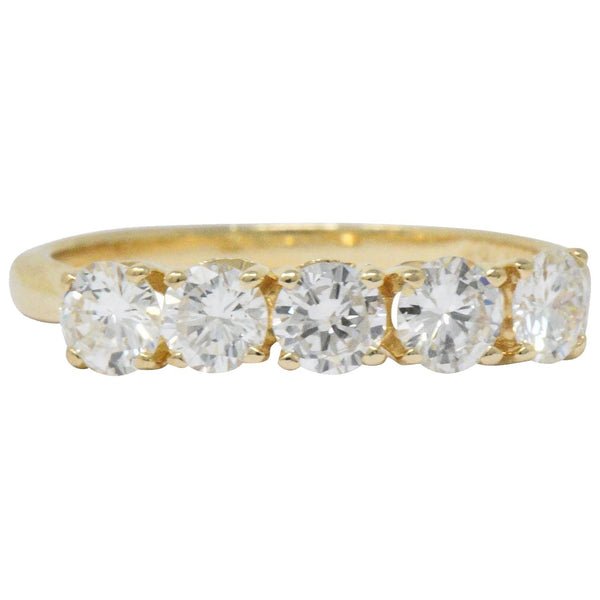 IBG Contemporary 1.10 CTW Diamond 14 Karat Gold 5 Stone Ring Ring Contemporary out-of-stock