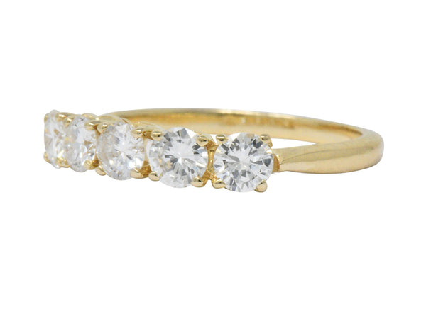 IBG Contemporary 1.10 CTW Diamond 14 Karat Gold 5 Stone Ring Ring