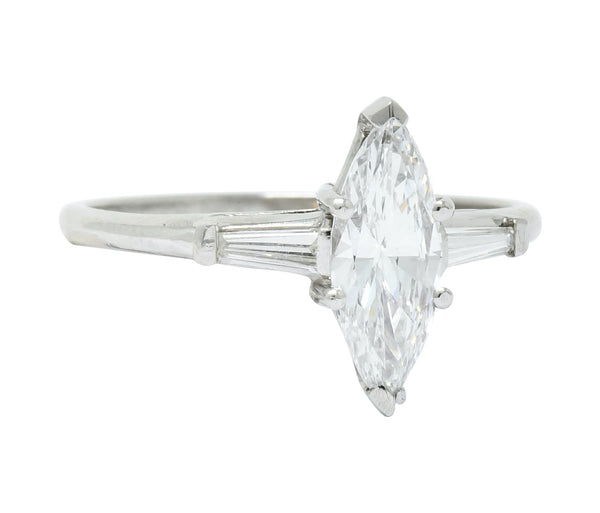 J.E. Caldwell 1.03 CTW Marquise Diamond Platinum Engagement Ring GIA Ring Contemporary diamond Engagement GIA J.E. Caldwell