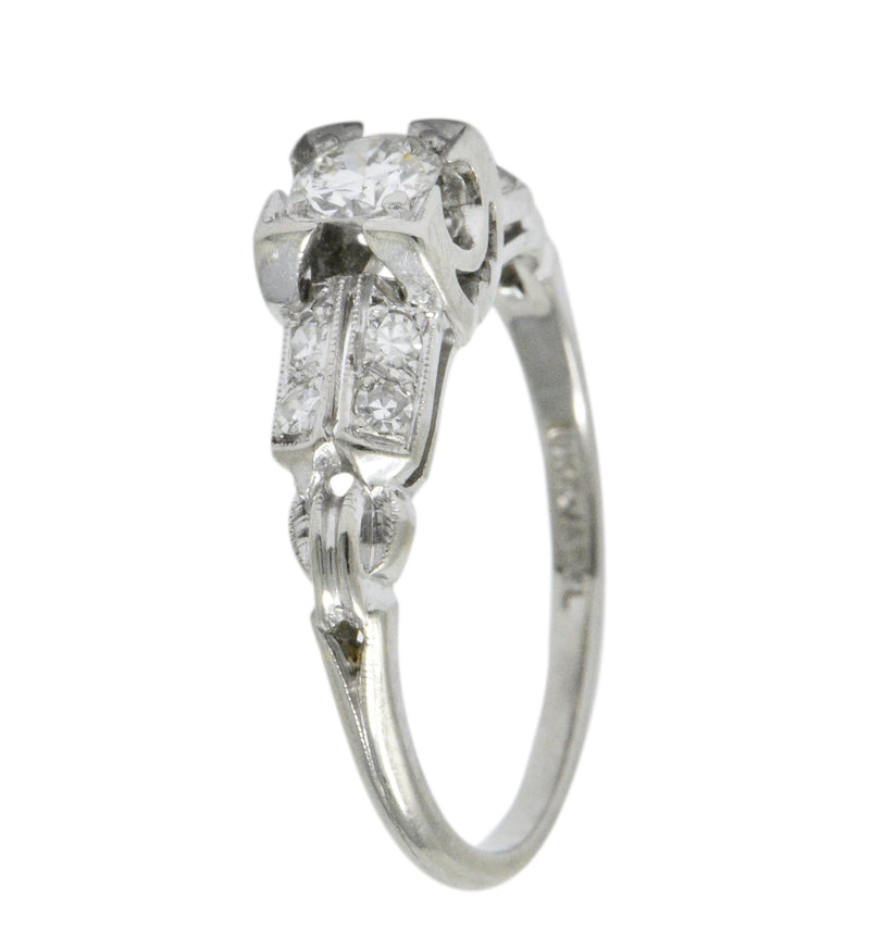 Jabel 0.40 CTW Diamond 18 Karat White Gold Engagement Ring Ring