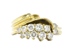 Jose Hess Contemporary 0.60 CTW Diamond 14 Karat Gold Ring - Wilson's Estate Jewelry