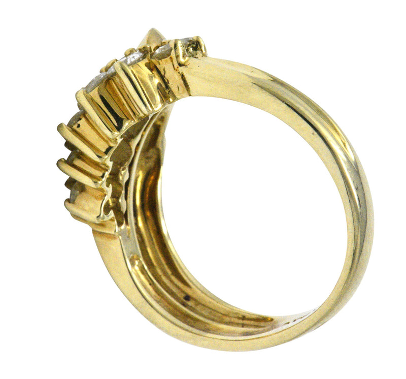 Jose Hess Contemporary 0.60 CTW Diamond 14 Karat Gold Ring Ring Contemporary signed
