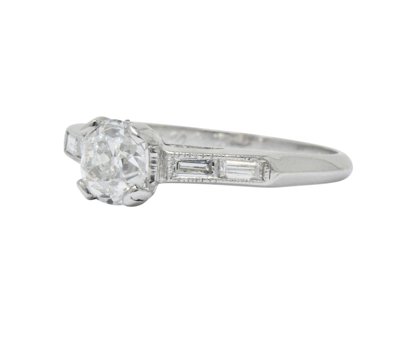 Lovely Art Deco 1.15 CTW Diamond Engagement Ring GIA Certified - Wilson's Estate Jewelry