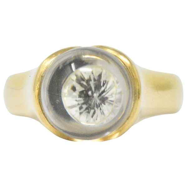 Mauboussin Paris Diamond Rock Crystal 18 Karat Gold Ring Ring