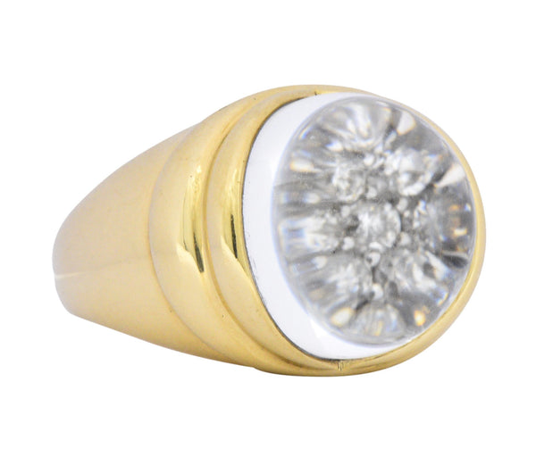 Mauboussin Paris Luminous Rock Crystal Diamond 18 Karat Gold Ring Ring