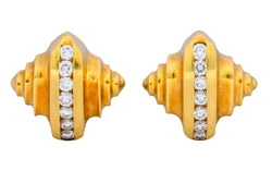 McTigue 0.45 CTW Diamond 18 Karat Gold Multi Dimensional Earrings - Wilson's Estate Jewelry