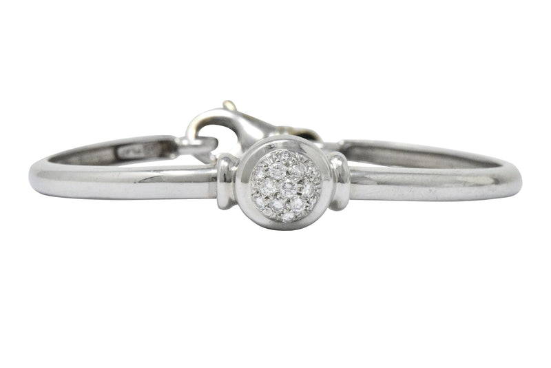 Modern 0.40 CTW Diamond Platinum Bangle Bracelet bracelet